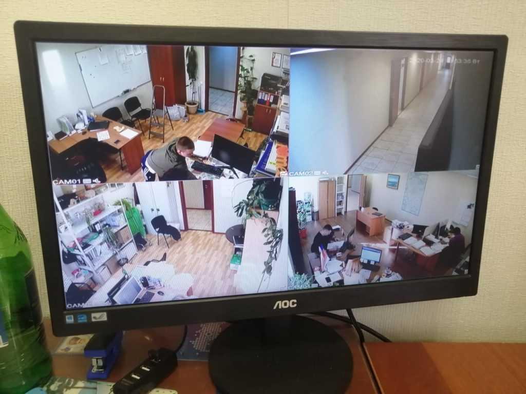 Установка видеонаблюдения в офис с гаражом под ключ