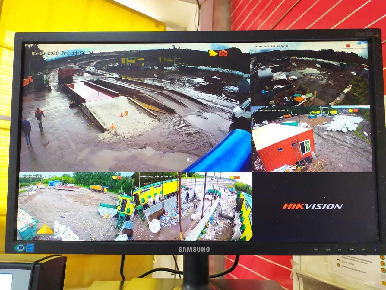 установка видеонаблюдения на свалке